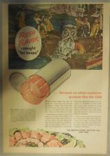 Canned Fish Ad: Fresh Flavor for Keeps ! from 1940's Size: 11 x 15 inches