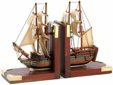 Gifts & Decor Office Library Sailing Schooner Antique Nautical Theme Bookend