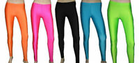 NEON UV PINK,YELLOW,ORANGE,GREEN LEGGINGS HALLOWEEN CYBER RAVE TUTU FANCY DRESS