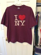 I Love New York Shirt XL Extra Large NYC Purple