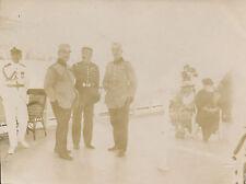 ROUMANIE C. 1922 - Officiers sur le Yacht de Roi de Roumanie  - GV465