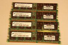 4GB MEMORY (4 x 1 GB) MICRON DDR, 200, CL2, ECC, REG MT36VDDF12872G-202C3