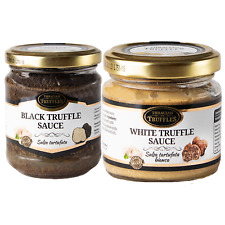 Black and White truffle sauces Gift SET with Tuber Aestivum Tuber Borchii