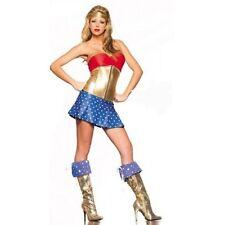 Señoras Vestido Elegante Mujer Maravilla Super Héroe Gallina Fiesta Disfraz Talla 8 - 10