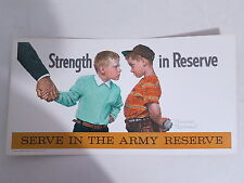 Vintage Norman Rockwell Army Reserve Baseball Player Sign