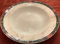 """Wedgwood Bone China England 1997 HARLEQUIN 8"""" Rimmed Soup Bowls Set of 8 EUC"""