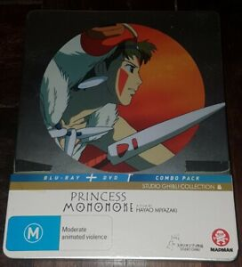 Princess Mononoke Limited Edition Steelbook Blu-ray DVD FREE POST Studio Ghibli
