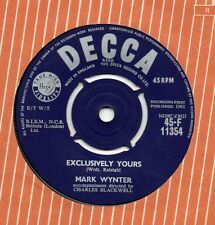 MARK WYNTER excluusively yours 1961 UK DECCA 45