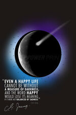 CARL JUNG QUOTE PHOTO PRINT POSTER PRE SIGNED - 12X8 INCH (A4) EVEN A HAPPY LIFE