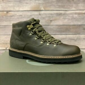 Timberland Men's Squall Canyon Olive Waterproof Leather Mid Hiker Boots A2988