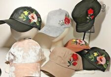 d98de3e55d8 DAVID and YOUNG Hats Women Caps EMBROIDERED Flower Design NICE YOUR CHOICE  NWT