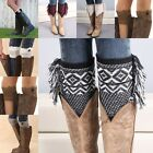 Fashion Womens Crochet Knit Lace Trim Leg Warmers Cuffs Toppers Boot Socks HN