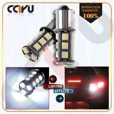 2x White 1156 7506 1003 1141 1073 5050 18SMD LED Brake Bulbs Interior RV Camper