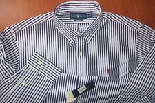 Ralph Lauren Custom Fit Button Down Cotton Casual Striped Dress Shirt XXL ~NWT~