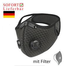 Fahrradmaske Bequem Atmungsaktiv Staubmaske Mit Filter Sport Maske Schwarz