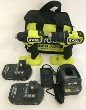 Ryobi PSBCK01K 18V Brushless Cordless Compact. Drill & Impact Driver Kit, L.N