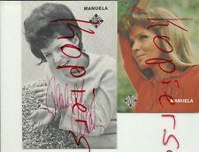 Manuela, Unterschrift auf 2 Telefunken Bildkarten