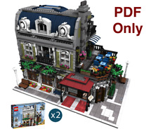 Custom Modular Building - Instructions ONLY P.D.F - Lego Parisian Modified 10243