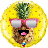 "MR. COOL PINEAPPLE FOIL BALLOON 18"" BIRTHDAY PARTY SUPPLIES"