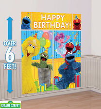 Sesame Street Party Supplies SCENE SETTER Wall Decorating Kit / Back Drop