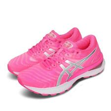 Asics Gel-Nimbus 22 FlyteFoam Pink Silver Womens Road Running Shoes 1012A587-701