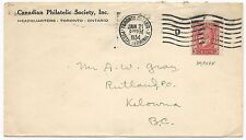 Canada Scott #207 Tied on Cover Philatelic Society January 21, 1934