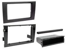 AUDI A4 B6/B7 MODEL 2001 to 2008 BLACK SINGLE & DOUBLE DIN FASCIA ADAPTER PANEL