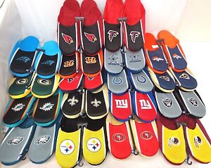NFL Men's Jersey Slide Slippers Indoor House Shoes by FOCO