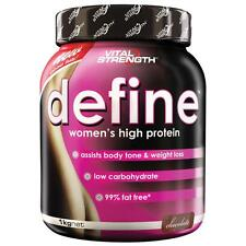 VitalStrength Define Women's high protein 1kg Chocolate Body tone 99% fat free
