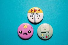 """3 1"""" Adventure Time Lumpy Space Princess Ice King BMO - pinback badges buttons"""
