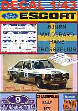 DECAL 1/43 FORD ESCORT RS 1800 MKII B.WALDEGARD ACROPOLIS R. 1977 (FULL) (01)