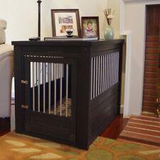 Dog Crate End Table Pet EcoFlex House Furniture Espresso Medium