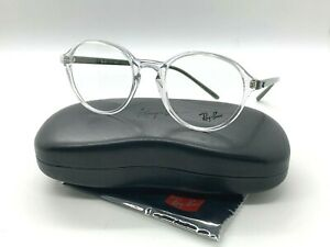 NEW RAY BAN EYEGLASSES RB 7173 5952 CLEAR/GREEN 51-20-145MM / CASE