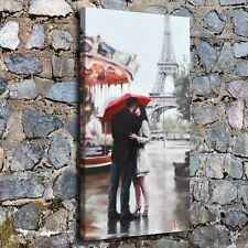 A290-Couple at Eiffel Tower Home Decor HD Canvas Print Picture Wall Art Painting