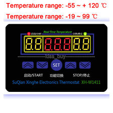 ac 220v Electronic Thermostat 10A LED Multifunction Temperature Controller+Probe