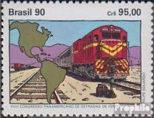 Brasilien 2375 (kompl.Ausg.) postfrisch 1990 Eisenbahn Kongreß