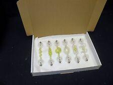 Geissler Roehren tubes set 18 cm 6 Stück mit Uranglas incl. Box