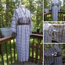 Vintage Striped Kimono l Denim Striped Kimono l Boho Chic l Cotton Blend l Osfm