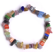 Gemstone Beads Bracelet Buddha Charm Bracelet Men Women Natural Lava Rock Agate