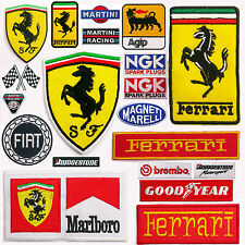 FERRARI Horse Emblem Cars & Racing Team + Sponsors Iron-On Patch Collection