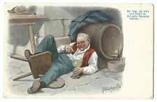 German Language Comic PPC, Unposted, c 1905, a Good Vintage in the Cellar