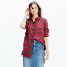 Madewell Exfreund Shirt in Lansing Plaid XSmall