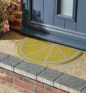 NEW Lemon Half-Moon Summer Front Door Mats Welcome Non-Slip Novelty Door Mat