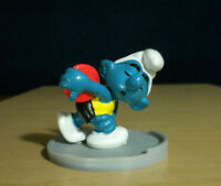 Smurfs 40503 Discus Smurf Olympic Figure Vintage Sports Toy PVC Lot Figurine 80s