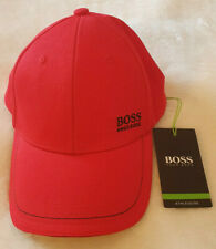 Hugo Boss Green Athleisure Red Small Logo Baseball Cap 1 Mens Hat Brand New
