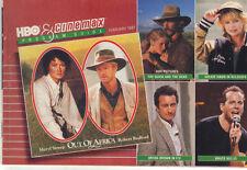 HBO and Cinemax Guide February 1987 MERYL STREEP & ROBERT REDFORD Cover