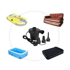 Fast Inflation 150W Electric Air Pump Camp Inflatable Airbeds Paddling Pool Toys