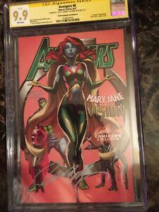 Avengers #8 CGC 9.9 SS Variant Cover D Signed by J. Scott Campbell & Sabine Rich