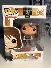 Funko Pop Vinilo The Walking Dead Maggie salpicaduras de sangre exclusivo Gemini