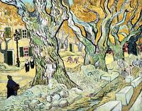 The Road Menders by Vincent van Gogh 75cm x 59cm Canvas Print